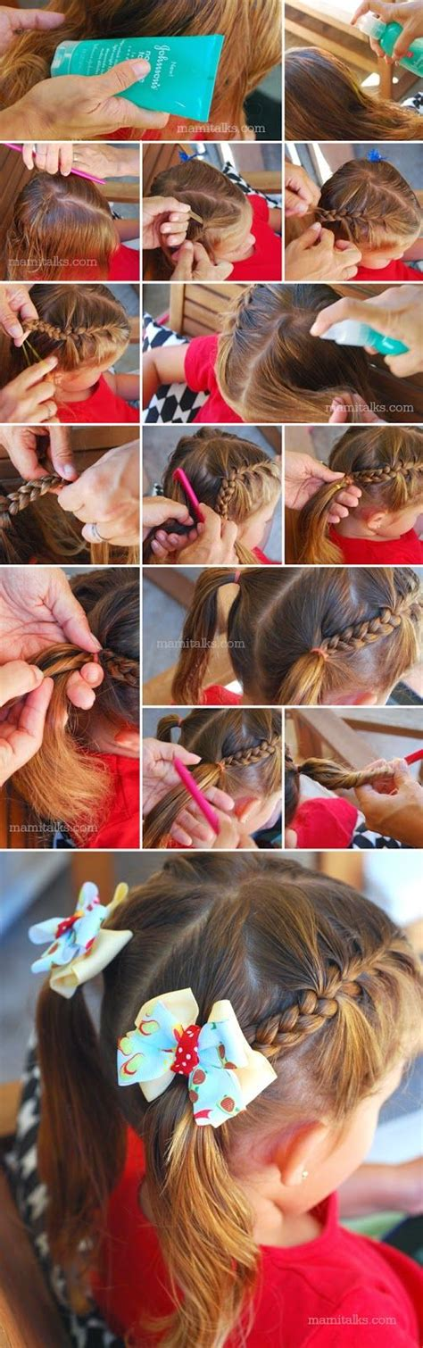 Mami Talks?: Back to School Hairstyle: Half Braided Pigtails   Kids hairstyles   Pinterest