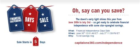 Capital One Gift Card Sale - capital one 360 independence day sale june 30th july 3rd 2014 doctor of credit
