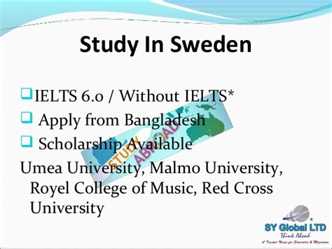 Mba In Sweden Without Ielts by Study Abroad And Canada Immigration
