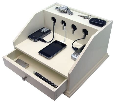 diy wireless phone charging station heiden deluxe charging station valet transitional