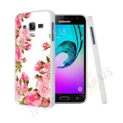 Casing Samsung J3 2016 Mikuuu Custom Hardcase vintage flower design cover for samsung
