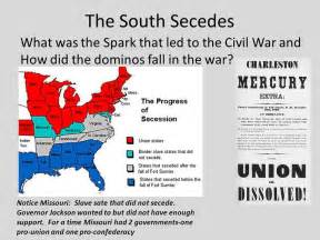 kentucky confederates secession civil war and the jackson purchase books the south secedes what was the spark that led to the civil