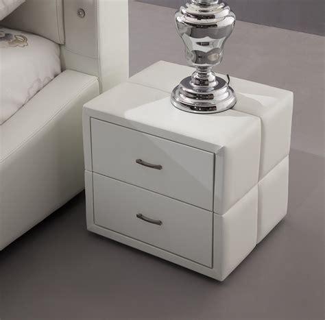 black bedside tables with stylish upholstered wooden frame