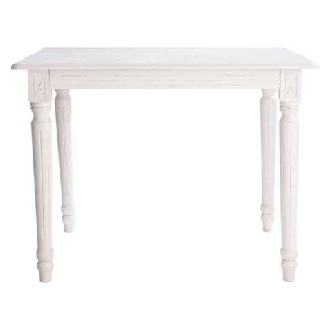 White Wood Extending Dining Table Wooden Extending Dining Table In White W 100cm Louis Maisons Du Monde