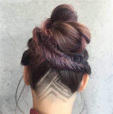 simple hair tattoo designs mane addicts undercut hair tattoos idgaf summer mane spo
