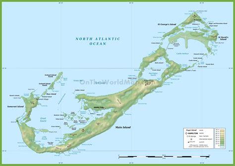 bermuda world map bermuda physical map