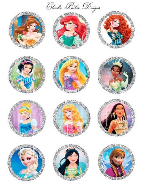 printable stickers disney disney princess cupcake toppers disney princess 2 inch