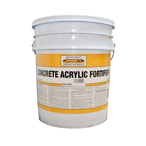 quikrete 5 gal concrete acrylic fortifier d029a the