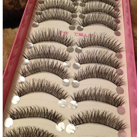 10 Pairs Set False Eyelashes 10 pairs set false eyelashes thick cross
