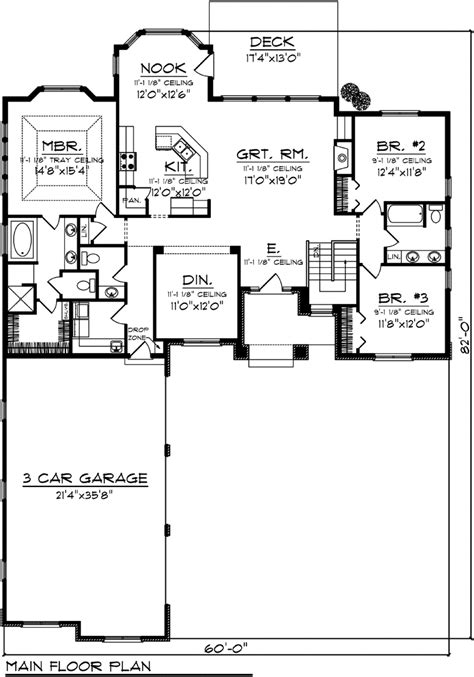side garage floor plans side load garage ranch house plans mibhouse com