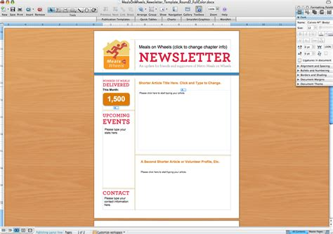 word document newsletter templates free templates for newsletters in microsoft word work