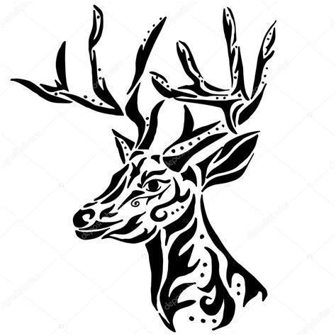 cervo per colorazione o tatuaggio isolato su priorit 224