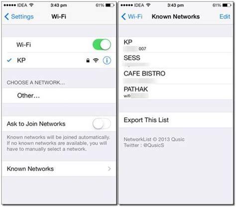 melihat password wifi  android  ios
