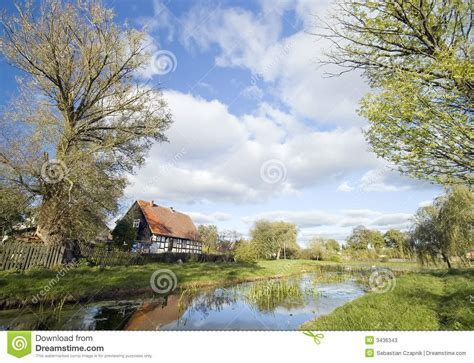 House Plans Cabin by Polish Village Landscape Stock Image Image Of Landscape