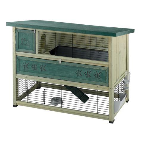 gabbie per conigli in legno gabbie per conigli ferplast ranch 140 conigliera due