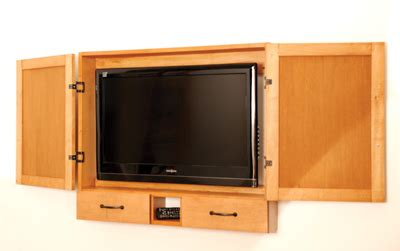 flat screen tv wall cabinet plans