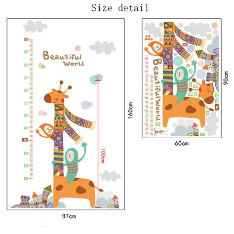 Removable Wall Stickers For Baby Room removable height chart measure wall sticker decal for kids