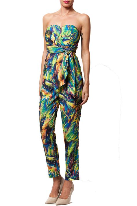 colorful jumpsuit mustard seed colorful jumpsuit from manhattan by dor l dor