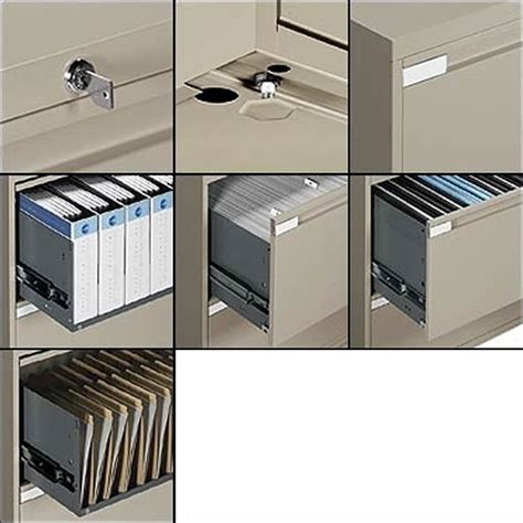 Global Office 9300P 4 Drawer Lateral Metal File Storage