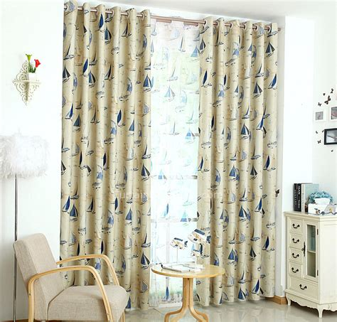 nautical style curtains insulated mediterranean style beige polyester nautical