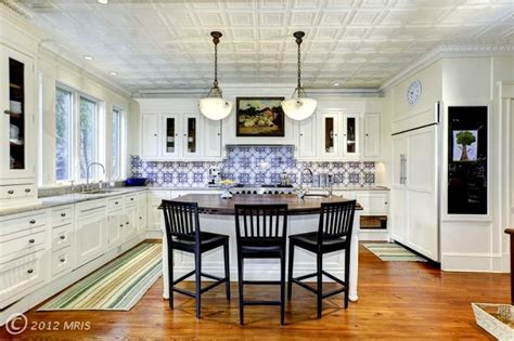 tin ceiling kitchen pin by dunning on i could cook here