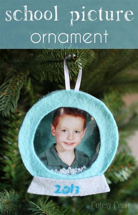 ornament school project felt school picture ornament cutesy crafts
