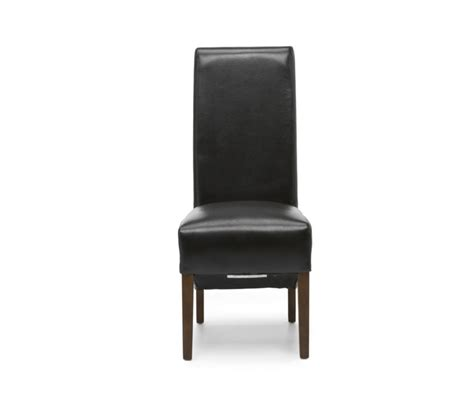High Back Brown Leather Dining Chairs by Brown Leather High Scroll Back Dining Chair