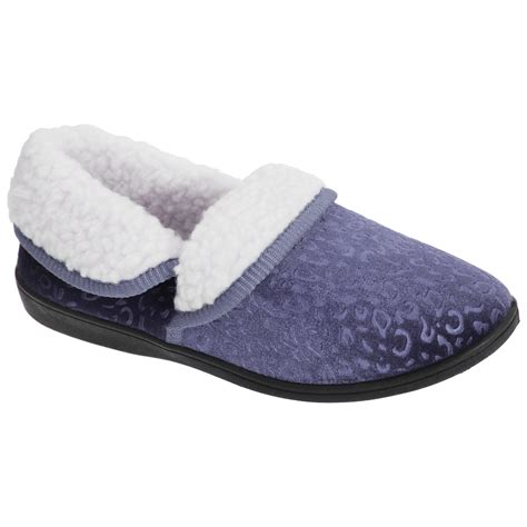 fleece lined slippers womens patterned fleece lined moccasin style slippers