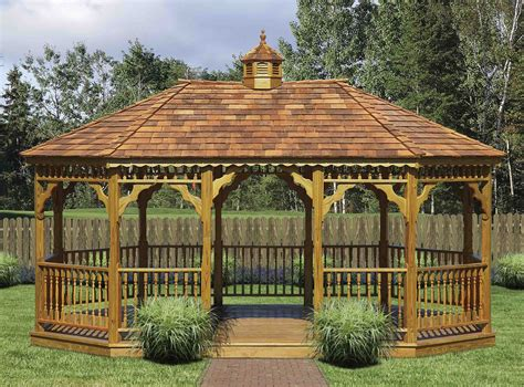 backyard sheds and gazebos oval gazebos from timber mill