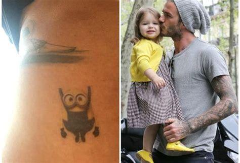 tattoo david beckham minion mira el nuevo tatuaje que se hizo david beckham por su