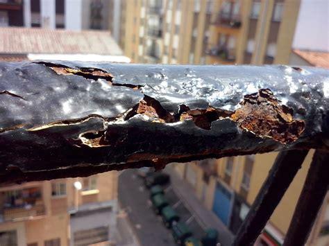 lijar barandilla hierro barandilla de balc 243 n oxidada leroy merlin