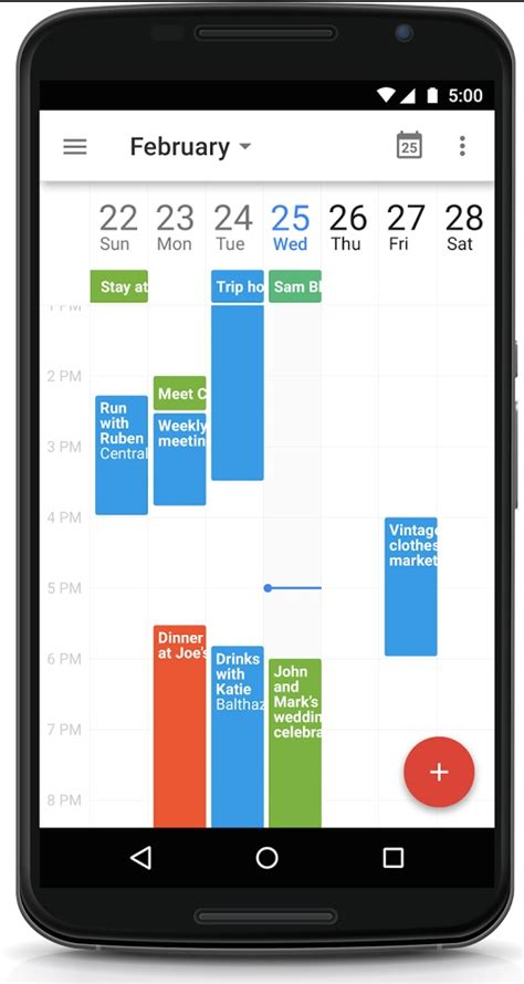 Drive Calendar Integration Updates Calendar For Android With 7 Day View Drive