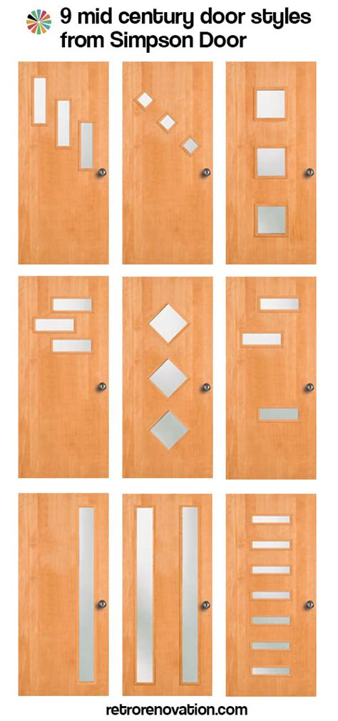 How To Decorate A Ranch Style Home by 9 Mid Century Modern Exterior Door Styles From Simpson