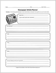 Feature Article Template For Students by Free Graphic Organizers For Teaching Writing