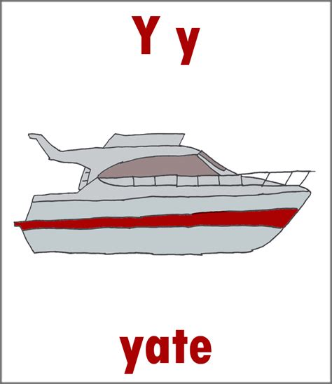 yacht in spanish letter y