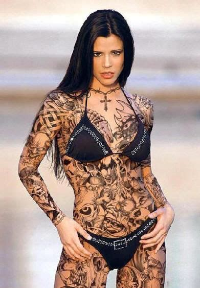 Calf Skin Rug Beauty Tattoo And Piercing Girls