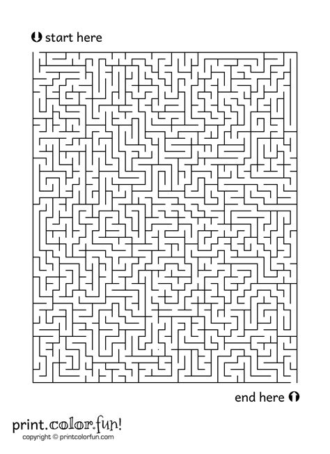 6 best images of big printable mazes free printable large maze 2 coloring page print color fun