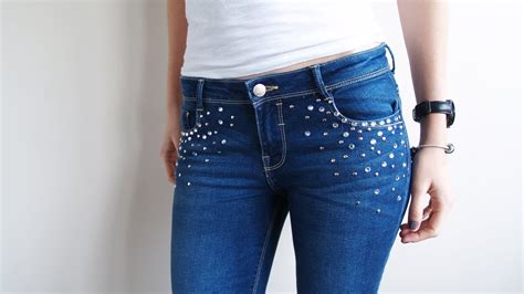 como decorar jeans con pedreria diy recicla tus jeans youtube