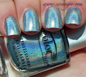 color club holographic scrangie color club halo hues holographic nail