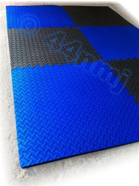 12mm Garage Workshop Machine Flooring Mat Tiles Red Blue