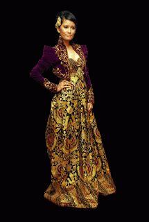 desain baju batik glamour fashionloly glamour with original modern kebaya indonesia