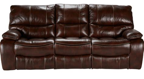 cindy crawford home leather sofa gianna brown leather reclining sofa
