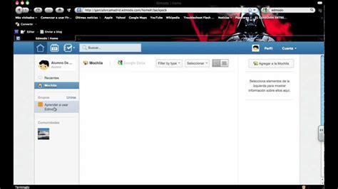 youtube tutorial de edmodo aprendo edmodo estudiante elementos de la pantalla de