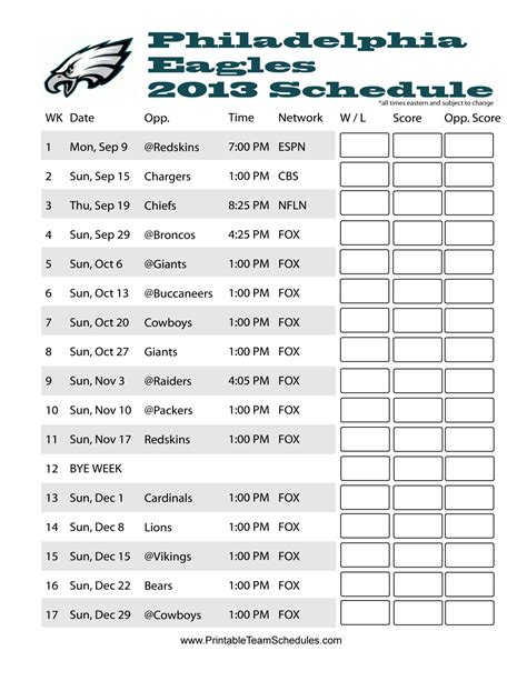 printable eagles schedule 2015 philadelphia eagles 2015 schedule wallpapers wallpaper cave