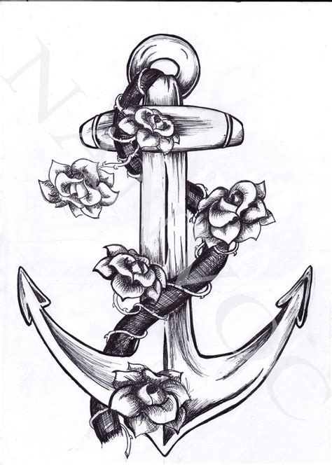 anchor tattoo with roses 20 anchor with designs