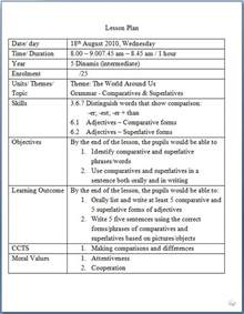 lesson plan template for esl teachers as a list of moral values for lesson planning