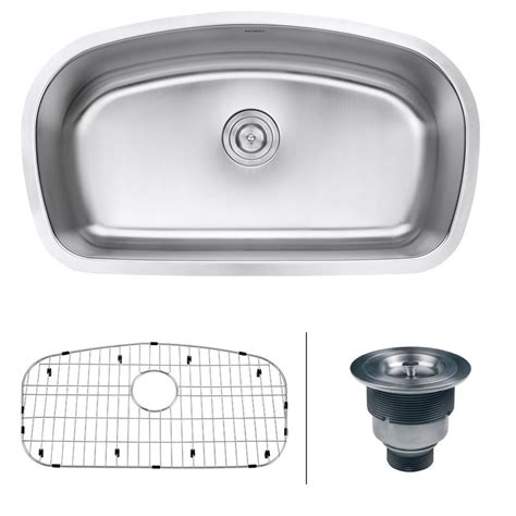 Bowl Undermount Stainless Steel Kitchen Sink by Ruvati 33 In Single Bowl Undermount 16 Stainless