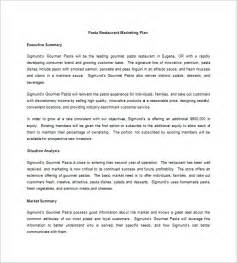 for marketing services template restaurant marketing plan template 10 free sle