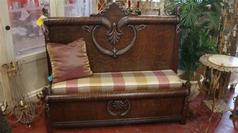 bench from headboard and footboard custom bench made from a reclaimed antique headboard and
