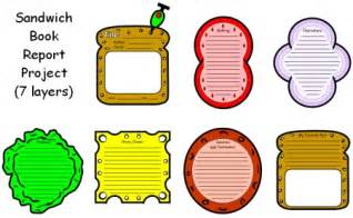 Sandwich Book Report Printable Template by Book Report Projects Sandwich Ideas And Exles